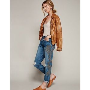 Free people Abbie studded boyfriend jeans 27